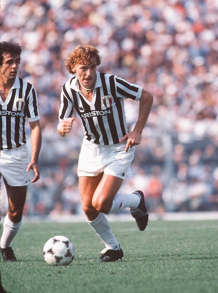 Michel Platini & Zbigniew Boniek teammates at Juventus mid 80's