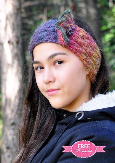 Кабель Трикотаж уха Теплее мохер Mix головная повязка для женщин по Monpasier