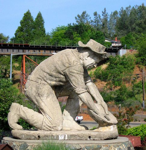 The Auburn Gold Miner is hard to miss from I-80E as you near the courthouse in Old Town Auburn.