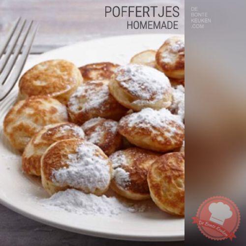 DeBonteKeuken: Poffertjes... (tarwebloem, melk, ei, zout, bakpoeder, stroop, Hollandse pot, Oud Hollands, recept, maaltijd, avondeten, winter)