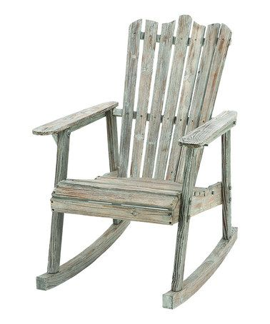 Take a look at this Rustic Rocking Chair by UMA Enterprises on #zulily today!