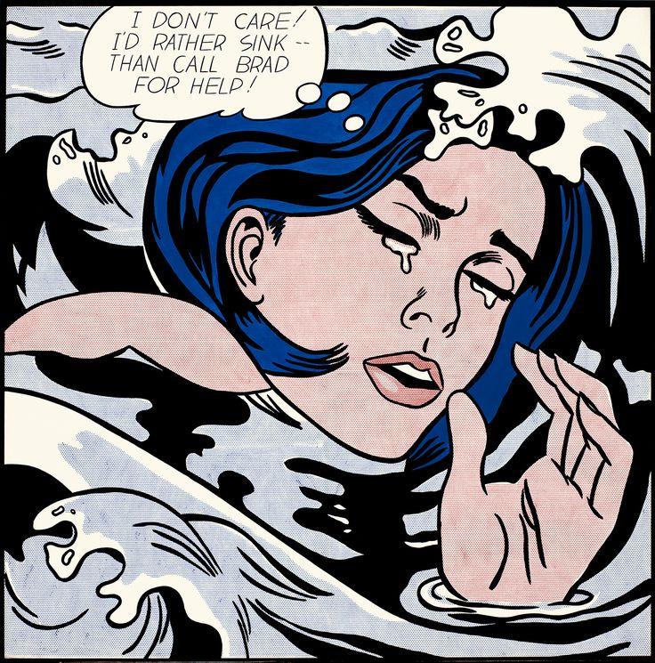Roy Lichtenstein, Drowning Girl, 1963.