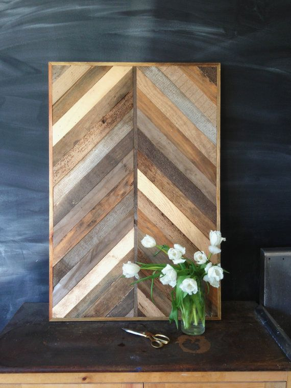 RESERVED for Laura -- Reclaimed Chevron Pallet and Barn Wood Coffee Table with…