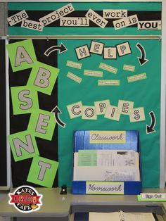 Kate's Science Classroom Cafe: Absent and Extra Help Bulletin Board