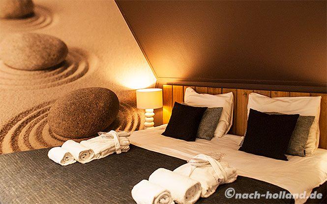Unser Schlafzimmer im Ferienhaus im Landal Hof van Saksen, besser wie manches 4-Sterne-Hotel