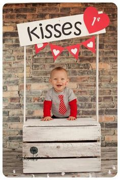 Kissing booth...vintage style with red and white