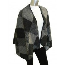 Fine & Dandy Grey Poncho