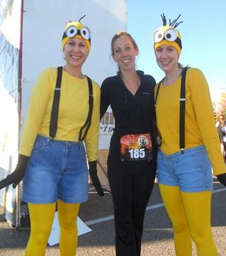 Minions Race Costume idea - great cold weather Halloween Costumes! Click for more ideas for your race costume!