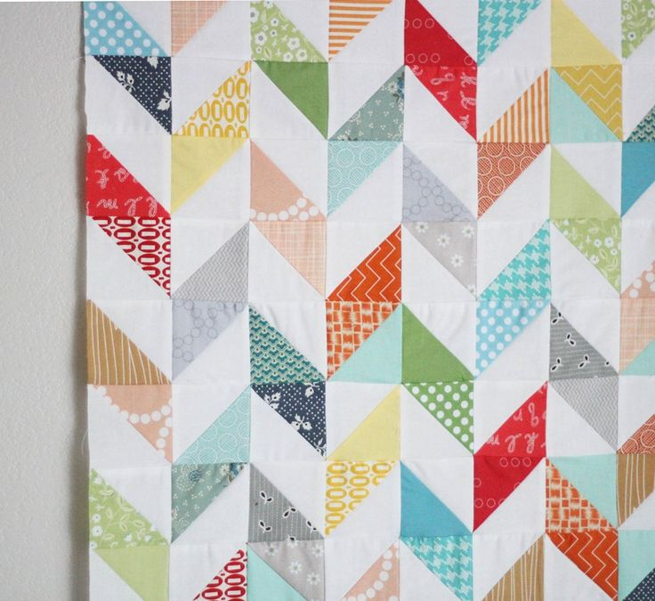 Half square triangle - matching colors on triangle sets give it an interesting look.
