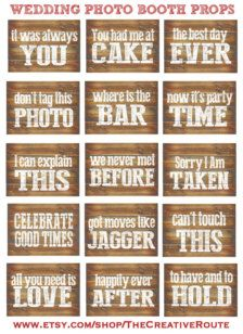 Photo Booth Props & Signs - Wedding Decorations - Page 4