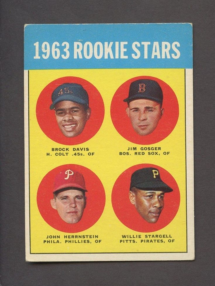1963 topps 553 willie stargell pittsburgh pirates rc