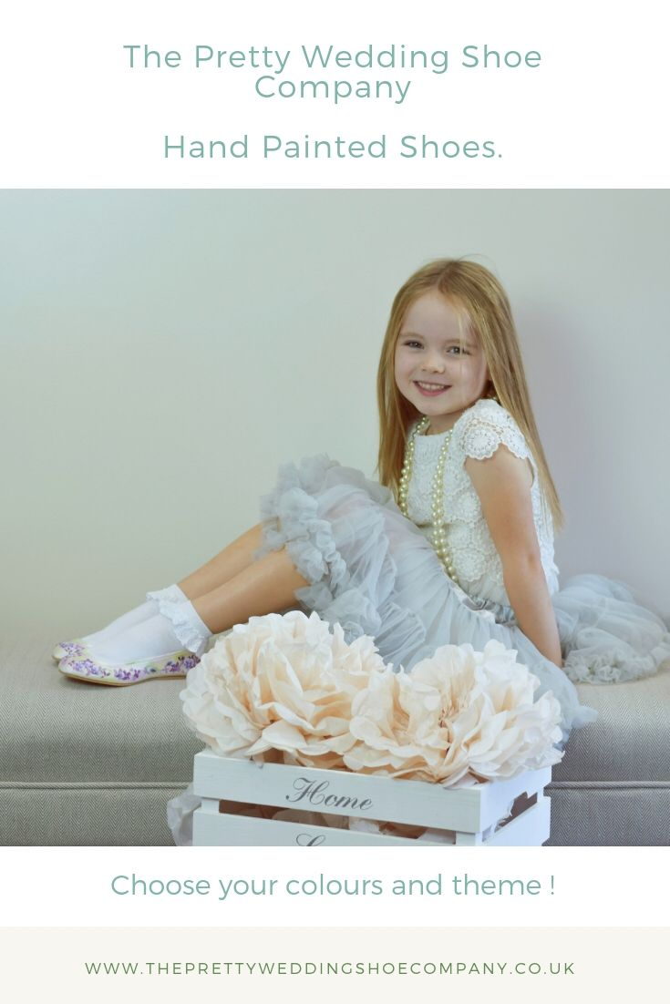 Beautiful Shoes For Your Bridesmaids And Flower Girls Hand Painted