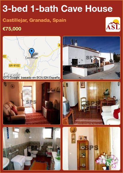 3-bed 1-bath Cave House in Castillejar, Granada, Spain ►€75,000 #PropertyForSaleInSpain