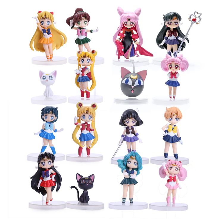Find More Action & Toy Figures Information about Anime Sailor Moon Figures Tsukino Usagi Sailor Mars Mercury Jupiter Venus Saturn PVC Figure Toys 16pcs/set SAFG030,High Quality Action & Toy Figures from WXY-TOY LTD on Aliexpress.com