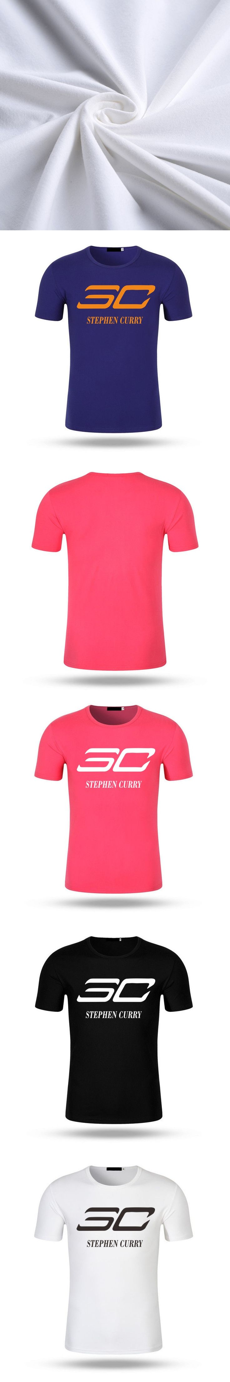 2017 Summer Fashion SC 30 T Shirt Men Fitness Stephen Curry T-shirt Casual Modal Cotton Tops Tee Shirts Unisex Style