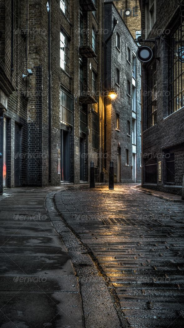 Dark Street Alleyway Alley Architecture Black