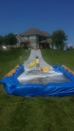 Homade slip and slide