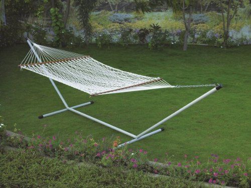 Hangit Polyester Rope Hammock Swing Outdoor furniture With Stand for Garden Hangit http://www.amazon.in/dp/B00QZYZ1G8/ref=cm_sw_r_pi_dp_220Svb019NCJQ