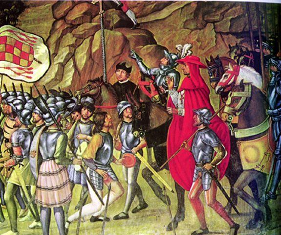 Cisneros_en_la_Toma_de_Oran_Juan_De_Borgoña_1514.jpeg (575×480)La batalla de Orán