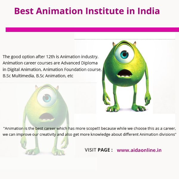 The good option after 12th is Animation industry. Animation career courses are Advanced Diploma in Digital Animation, Animation Foundation course, B.Sc Multimedia, B.Sc Animation, etc.