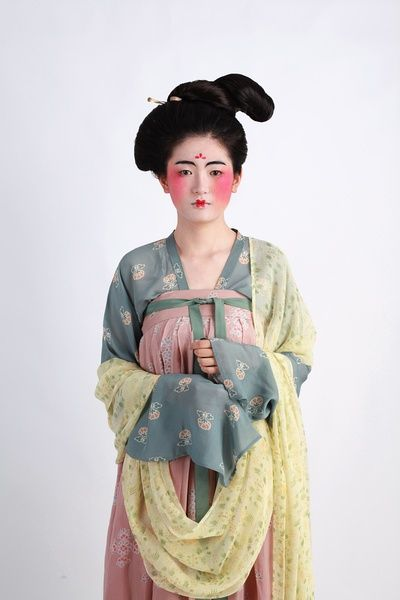 Chinese Tang Dynasty. Wonderfully authentic, from hair to clothing.