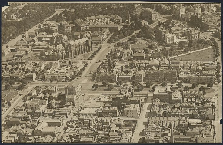 Fitzroy Cyclorama - 3 years after it was demolished, the vacant site near the centre - Melbourne 1931