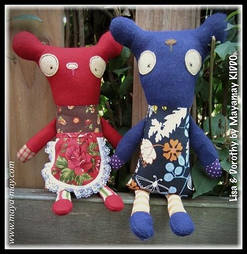 Meet our new plush friends LISA & DOROTHY by MM KIDDO!. |Price: AUD20.00/set or AUD18.00/single |www.maya-may.com |Enquiries: mayamay24@gmail.com. Text : Angela +61413504255 (Australia) #dolls #plushies #felt #handmade #kids #toys #gifts