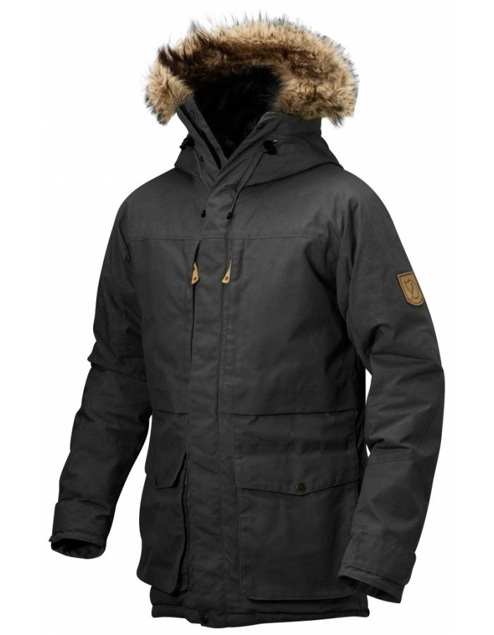 Fjellreven Barents Parka - Dark Grey - L