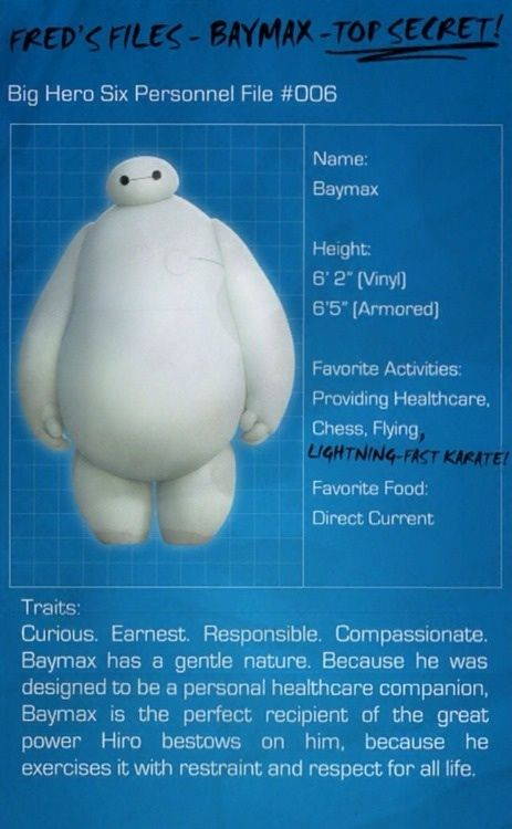 Fred Files: Baymax (part 1)