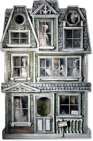 "Jodi and Richard Creager: ""Mandragora Manor"" (Halloween Miniature Ghost Shadow Box 16""x10"") sold on eBay for $3,706.00"