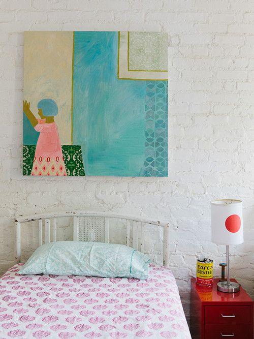 white brick, color & pattern
