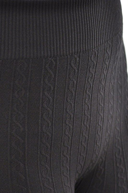 Close up of Cable Knit Fabric