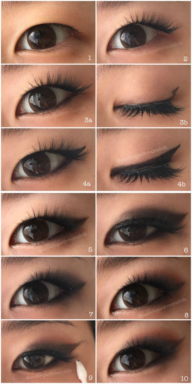 Monolid Make Up Tutorial Smoked Out Winged Eyeshadow