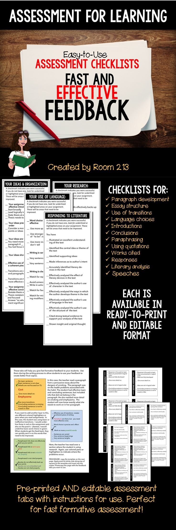 Fast effective feedback! You can give your students lots of feedback without burying yourself under paper!
