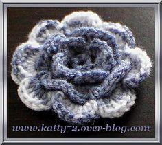 Crochet : Flower / Fleur avec tutoriel