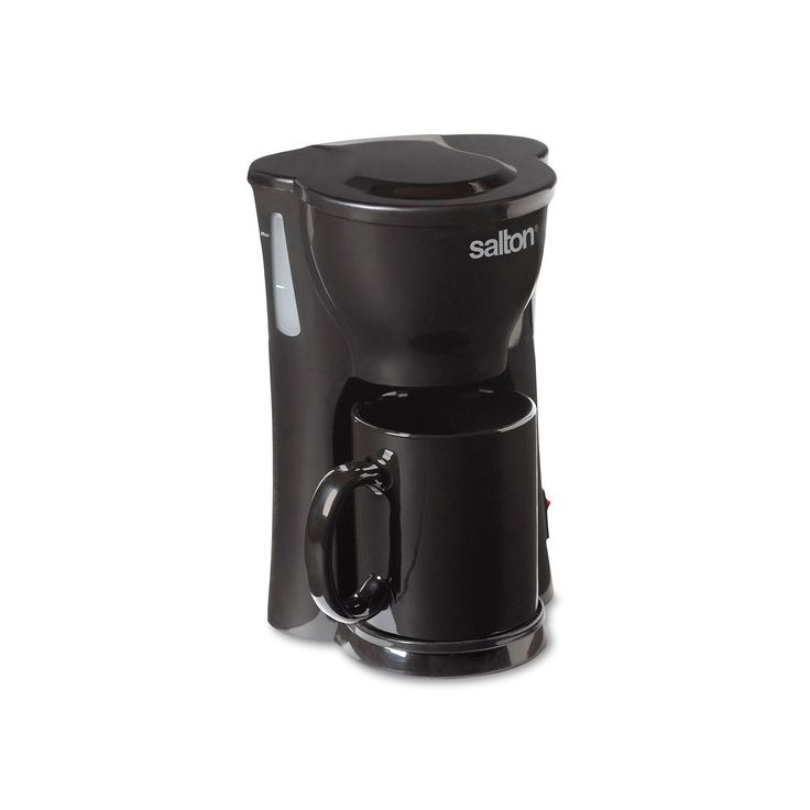 Salton Space-Saving Coffee Maker, Black