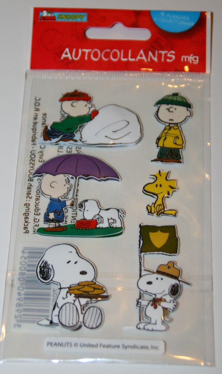 Planche de Stickers 3D SNOOPY pour Scrapbooking : Stickers, autocollants par boutique-creative-by-c-dona