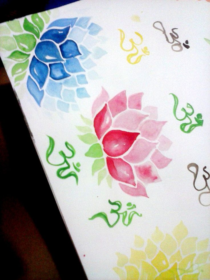 Testando aquarela nova em flores lótus, pelo que ando apaixonada nos últimos dias Emoticon wink