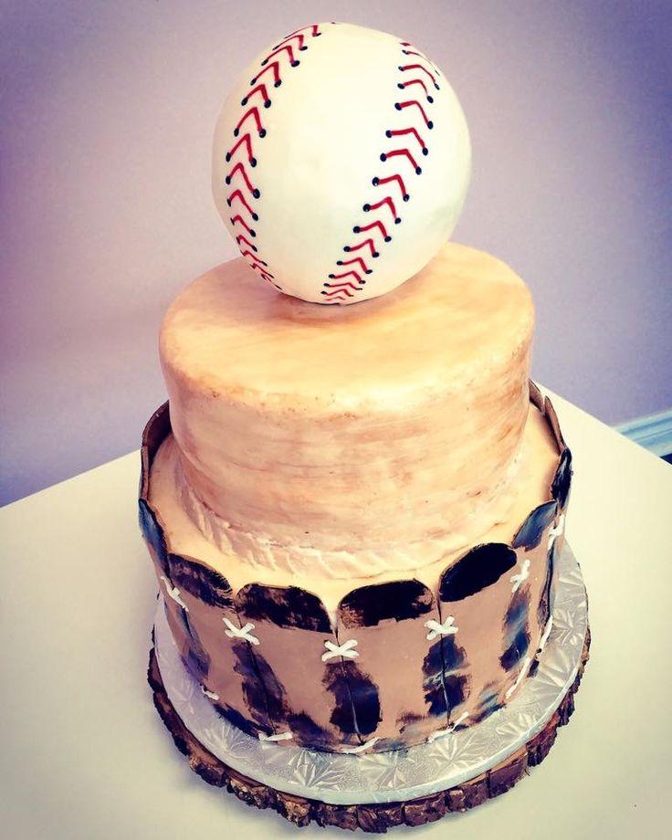 Baseball Themed Wedding Cake #DvasCakes