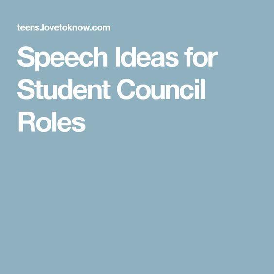 Speech Ideas for Student Council Roles