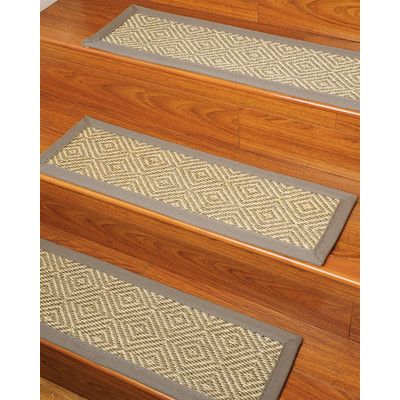 Natural Area Rugs Festival Beige Carpet Stair Tread (Set of 13)