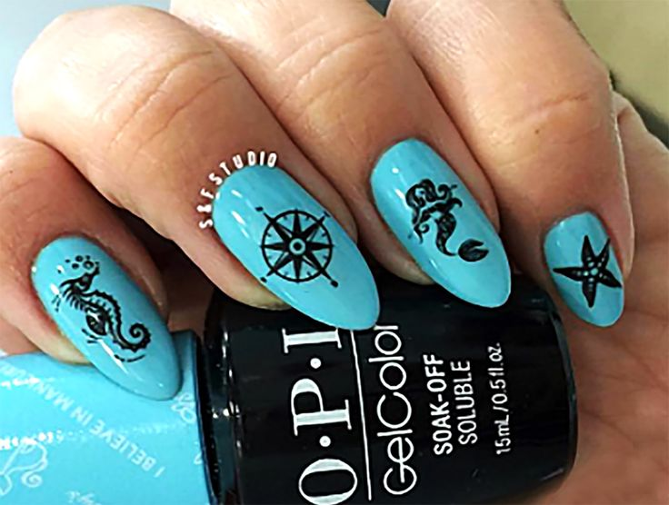 10 best spring break nail art images on pinterest nail decals nautical nail art decals set 1 prinsesfo Choice Image