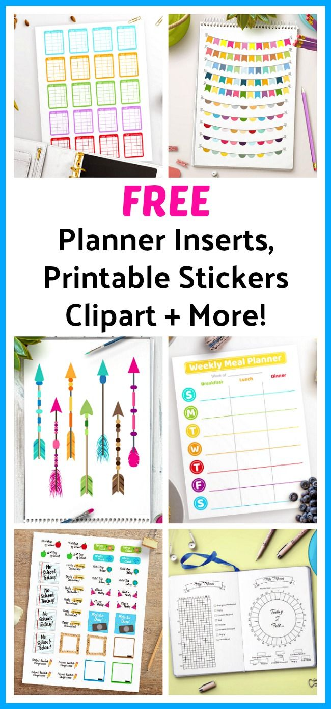 Ideal FREE Planner Inserts Printable Stickers Clipart More Every week Digital Download Shop releases new freebies Subscribe to our newsletter for access