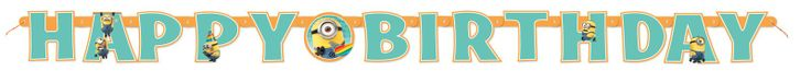 Despicable Me 2 - Jointed Birthday Banner, 89114