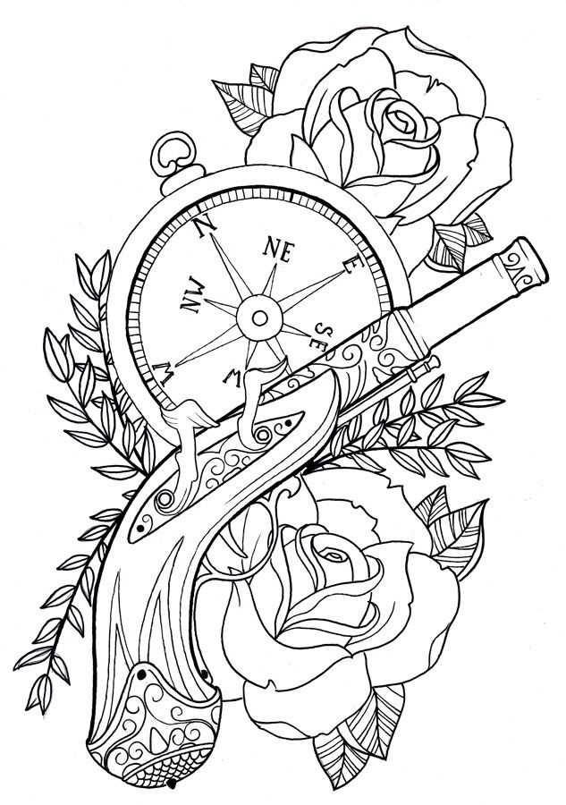 18 best images about gun coloring pages on pinterest