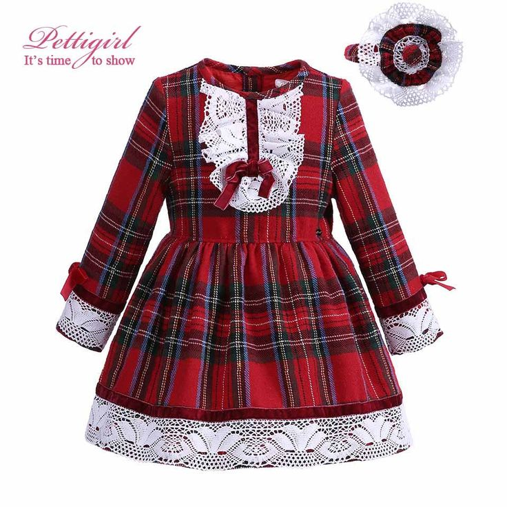 Pettigirl Red Grid Girl Dresses