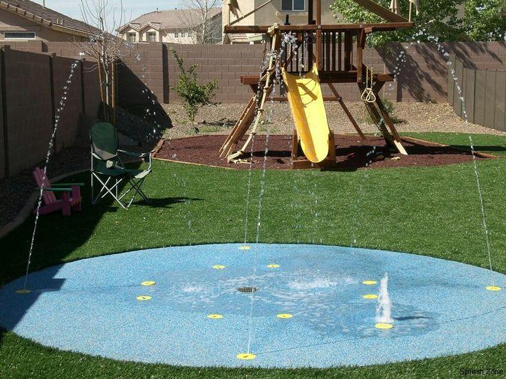 Backyard splash pad....YES PLEASE!!!                                                                                                                                                     More