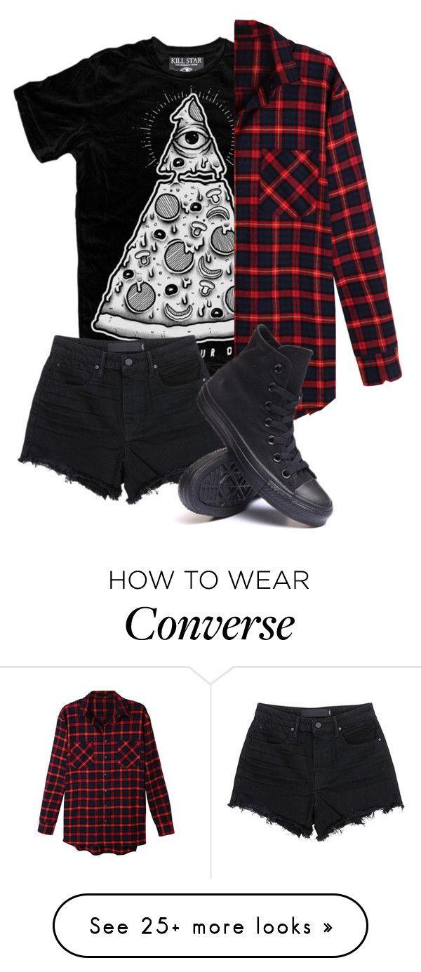 """idk I kinda like that shirt"" by bands-are-my-savior on Polyvore featuring LE3NO, T By Alexander Wang and Converse"