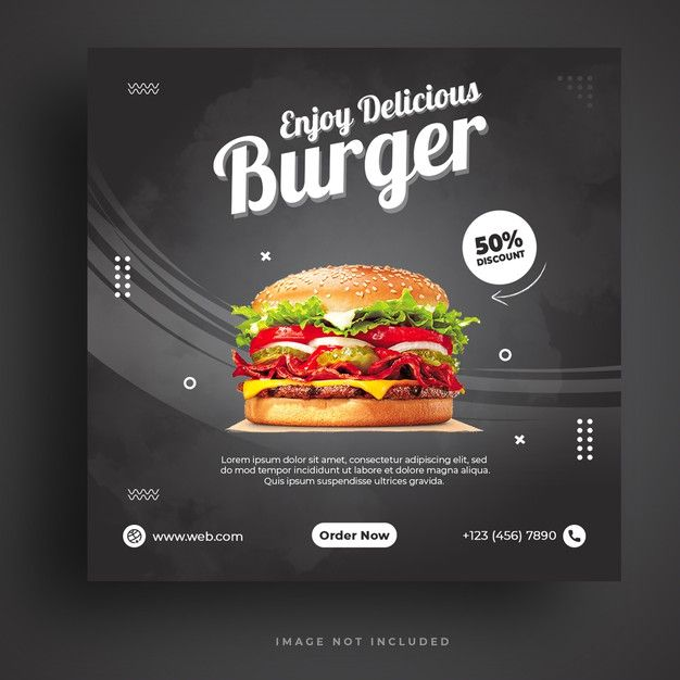 Food Menu And Restaurant Burger Social Media Banner Template Social Media Banner Banner Template Website Banner Design