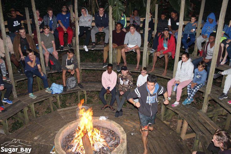 When campfire just begins.